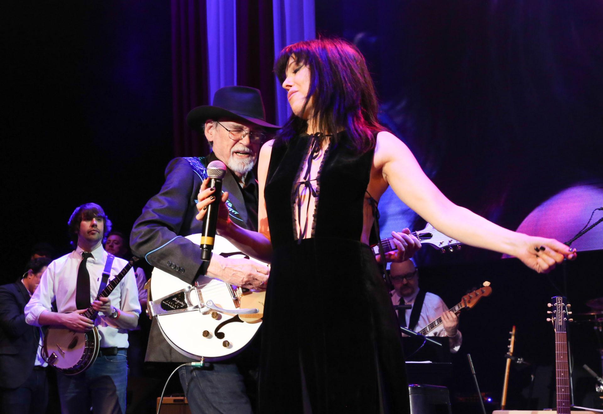 On stage with Imelda May and Duane Eddy