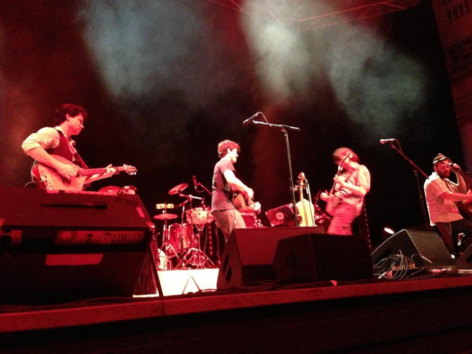 On stage with Seth Lakeman Band